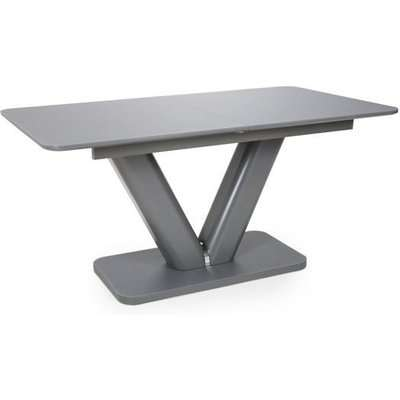 Shankar Venus Extra Large Extendable Grey Tempered Glass Dining Table