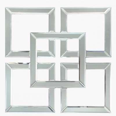 Deco Home Small Geo Mirrored Wall Art 40cm