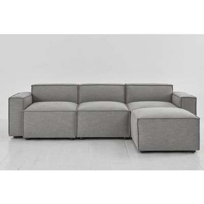 Swyft Model 03 3 Seater Sofa & Chaise - Shadow Linen