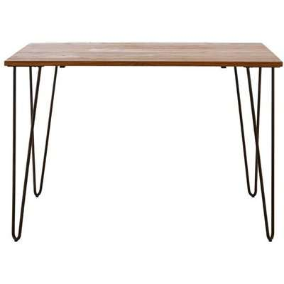 Teddy's Collection Dawson Hairpin Brown Dining Table
