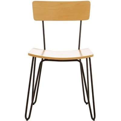 Teddy's Collection Daya Hairpin Yellow Dining Chair