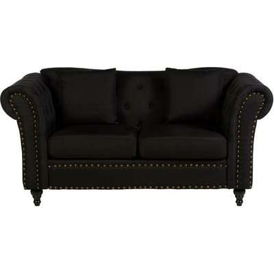 Teddy's Collection Ford Chesterfield Black 2 Seater Sofa