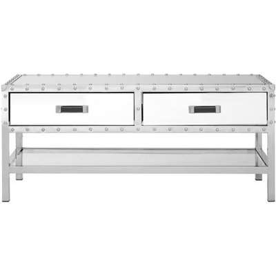 Teddy's Collection Robert 2 Drawers Silver Coffee Table