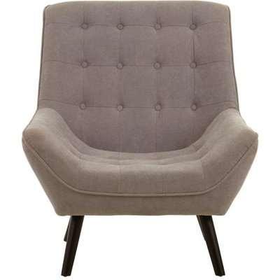 Teddy's Collection Sebastian Linen Curved Grey Armchair
