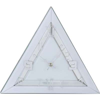 Deco Home Triangle Mirror Table Clock White Clear / Clear