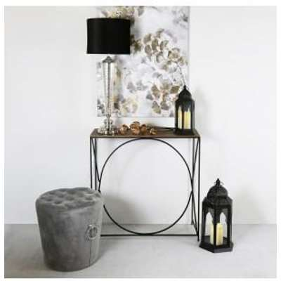 Deco Home Value Ekanshi Black And Gold Console Table