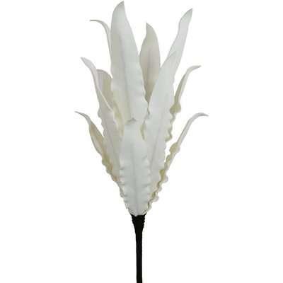 Deco Home White Foam Single Stem Bud Branch Flower / White