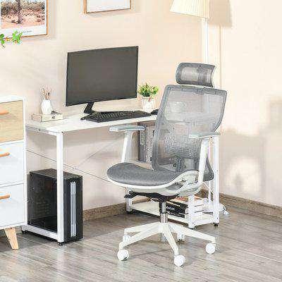 Adjustable Ergonomic Office Chair with Swivel Base - Grey
