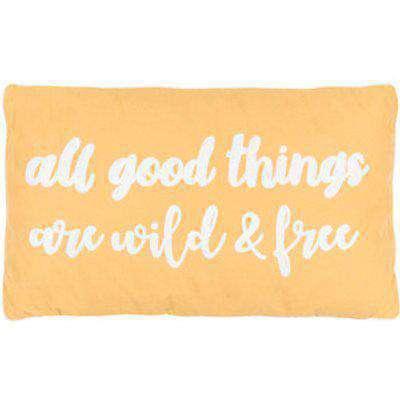 All Good Things Slogan Outdoor Cushion