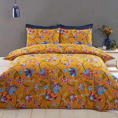 Allegra Floral Duvet and Pillow Case Set - King