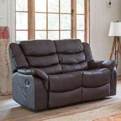 Almeira 2 Seat Recliner Sofa - Brown