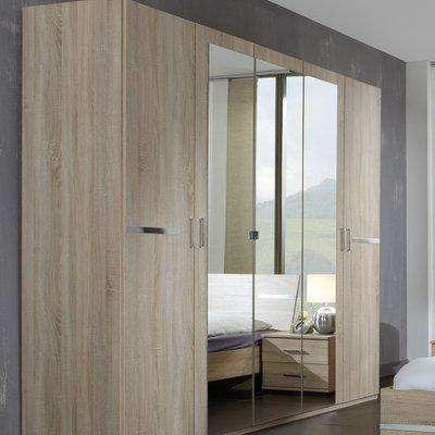 Anna Oak 5 Door Wardrobe - Oak