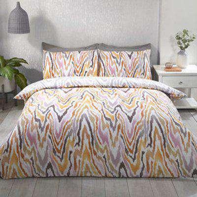Palm Print Duvet and Pillow Case Set - King
