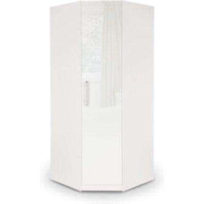 Ashburton Corner Wardrobe - White / Gloss White
