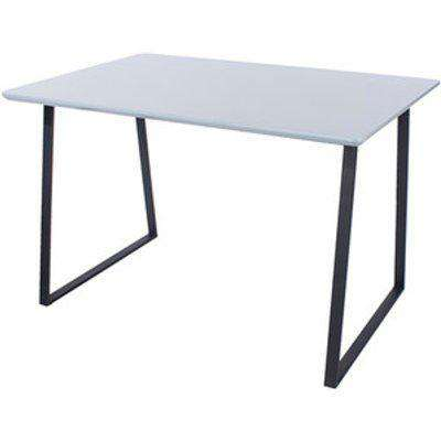 Aspen Rectangular 120cm Dining Table  With Metal Legs -Gloss Grey