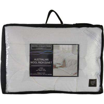 Australian Wool Hotel Collection Duvet - White / Super King size
