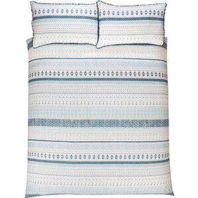 Aztec Geo Stripe Duvet and Pillowcase Set - Double