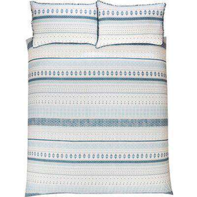 Aztec Geo Stripe Duvet and Pillowcase Set - King