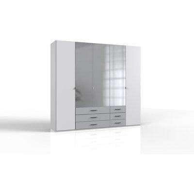 Ball White And Grey 5 Door Wardrobe - White And Grey Finish