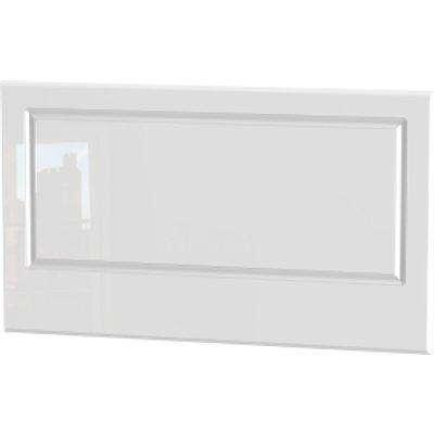 Balmoral White Gloss Headboard - White Gloss / Single