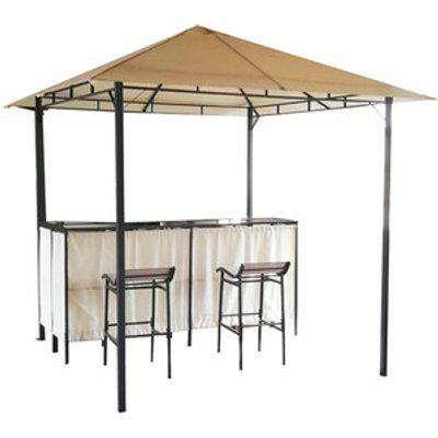Bar Gazebo & Two Chairs - Cream