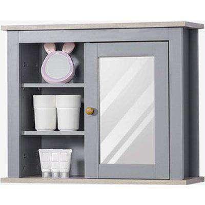 Bathroom Mirror Cabinet Wall Mounted with Adjustable Shelves - Grey