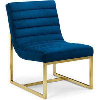 Bellagio Velvet Chair - Blue/Gold