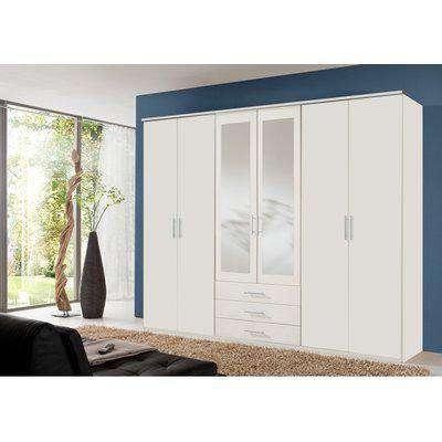 Ben White 6 Door Wardrobe - White / 270cm