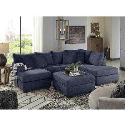 Beboz Full Back Large Corner U Shape Sofa - Slate