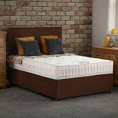 Bideford Divan Bed With Drawers & Mattress - Choc / Single / 2