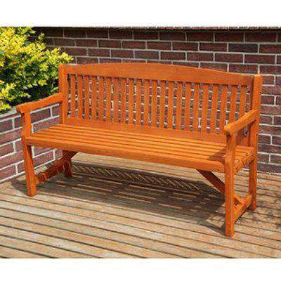 BIRCHTREE Wood 3 Seater Chair Garden Bench  - Natural