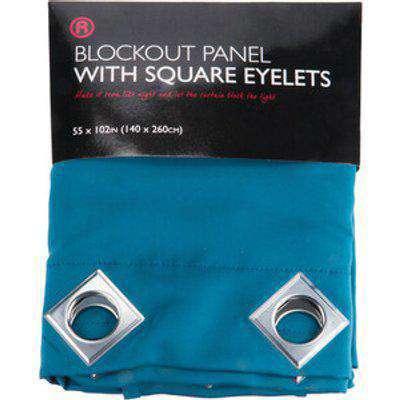 Blackout Square Eyelet Panel Curtain - Teal