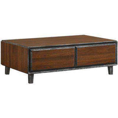 Bretton Coffee Table With Two Drawers - Walnut