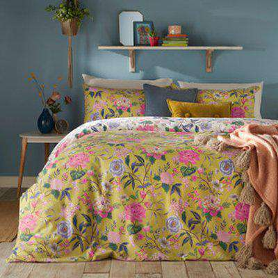 Bright Bloom Duvet Cover Set - Bamboo / Double