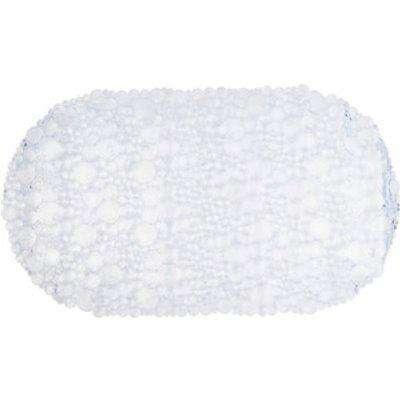 Bubbles Clear PVC Bath Mat - Round / 67cm