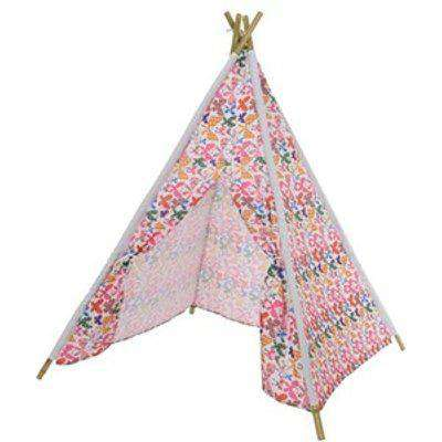 Butterfly Teepee Play Tent - White