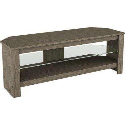 Calibre 1.15m TV Stand with Glass Shelf - Black Oak
