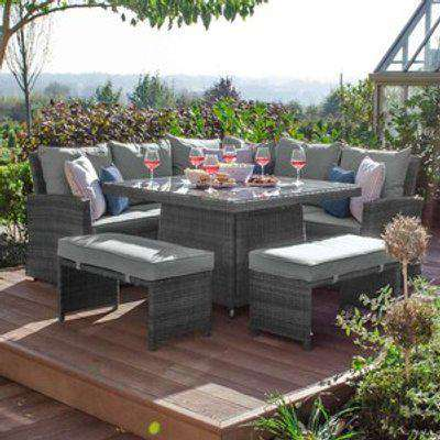 Cambridge Compact Patio Furniture Set with Fire Pit Table