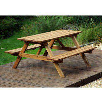 Charles Taylor Six Seater Picnic Table Pallet Deal - Brown