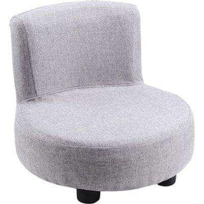 Children Kids Comfy Soft Linen Chair - Grey
