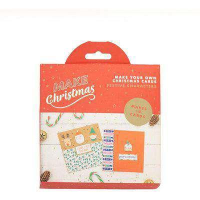 Christmas Card Making Kit Festive Characters