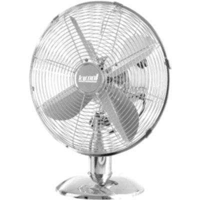 "10"" Chrome Desk Fan with 3 Speed Oscillation"