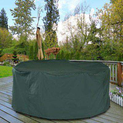 Circle Outdoor Furniture Cover With Fastening  - Green