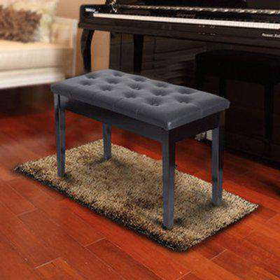 Classic Piano Bench Padded Seat - Black