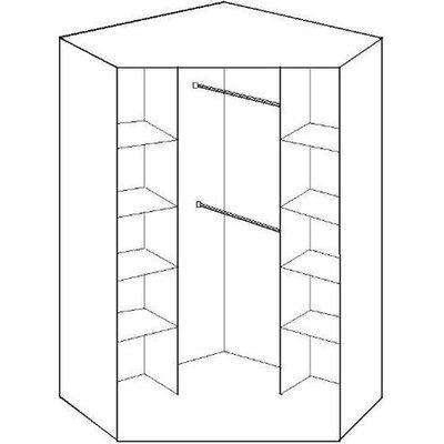 Click White And Grey Corner Wardrobe - White