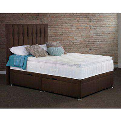 Clovelly Side Lift Ottoman Bed - Chocolate / Single