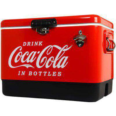 Coca-Cola Ice Chest Cooler with Bottle Opener - Red