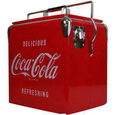 Coca-Cola Retro Ice Chest Cooler with Bottle Opener 13L - Red