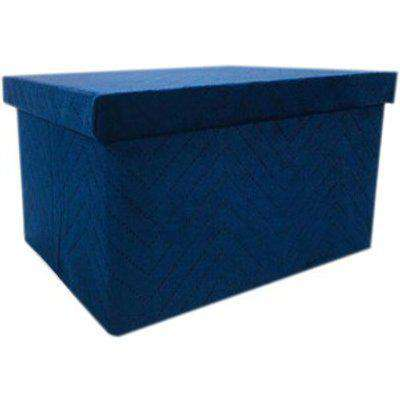 Collapsible Velvet Storage Box With Lid