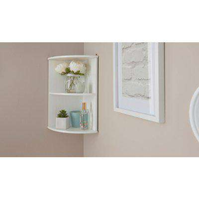 Colonial Corner Wall Shelf Unit - White
